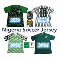 kısa kollu futbol formaları toptan satış-1994 Retro Sürümü Nijerya Jersey 2019 Starboy Futbol Formalar Okechukwu Dayo Ojo Osas Okoro Klasik Kısa Sleeve Nijerya Futbol Üniformalar