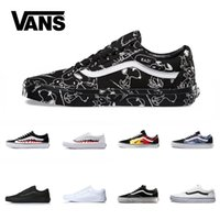 d6e03fa737 Vans Old Skool Men Women Casual Shoes Rock Flame Yacht Club Sharktooth  Peanuts Skateboard Black White Mens Sport Running Sneaker Size 36-44