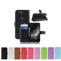 alcatel deri çanta toptan satış-Alcatel 1 S Için Flip PU Deri Kapak Durumda 2019 1X 2019 3L Cüzdan Koruyucu Telefon Çanta