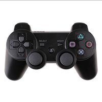 Wholesale playstation games free online - P S controllers Wireless Bluetooth Controller Game Pad Double Shock playstation PS3 gamepad colors with retail box free DHL