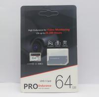 vente de cartes micro sd de 32 go achat en gros de-1pcs Populaire Vente 256Go 128Go 64Go 32Go PRO microSDXC Micro SD haute endurance UHS-I Class10 Carte Mémoire Mobile DHL