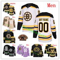 jersey de invierno bruins al por mayor-Custom Men Women Youth Boston Bruins 2019 Clásico de invierno Zdeno Chara Patrice Bergeron Tuukka Rask Halak Bobby Orr Coyle Camisetas de hockey