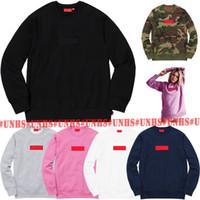 pink pullover großhandel-HOT SALE top! Klassische UNHS Rosa Art und Weise Camo BOGO O-Ansatz Box Logo Crewneck Hoodie uinonhouse MEN WOMEN Street 16 Farben freies Verschiffen