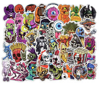 Wholesale body stickers for halloween for sale - Group buy 50pcs DIY Sticker Random Stickers Posters for Graffiti Skateboard Snowboard Laptop Luggage Motorcycle Bike Home Decal Halloween Monster