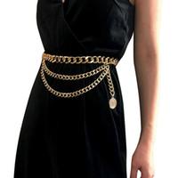 cintos de metal para as mulheres venda por atacado-Designer de luxo Cinto De Metal Para As Mulheres Retro Punk Franja Cintura Cinto De Prata De Ouro Vestido de Senhoras Marca Tassel Cadeia Feminino 480