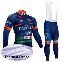 invierno vellón para hombre al por mayor-2019 Mens Fantini Pro Cycling Jersey Set Winter Thermal Fleece Ciclismo Ropa de manga larga Maillot Ciclismo Invierno Bike Jersey Y021410