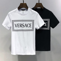 schwarzes weißes paar t-shirt großhandel-Mens-Frauen-Designer-T-Shirt Schwarzweiss-Normallack-Sommer-Marken-Spitzen-T-Stück Luxusqualitäts-Kleidung für Paare