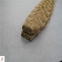 hint remy sarışın toptan satış-Bleach Sarışın Renk 6a Işlenmemiş Hint Vücut Dalga 1 / adet / 100g Bakire Saç Demetleri 100% İnsan Saç Dokuma 10-30 Inç Remy Saç Uzatma