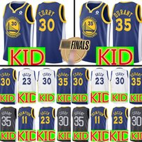 Wholesale quick state online - KID Golden State Warriors Jersey Youth Stephen Curry Kevin Durant Klay Thompson Draymond Green Jerseys S XL