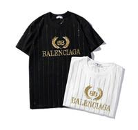 Wholesale tshirt custom printing resale online - 19balenciaga mens luxury tshirt Paris fashion brand designer t shirt street pop BB private custom high end t shirt black white casual shirts