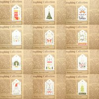 Wholesale paintings christmas resale online - Merry Christmas DIY Gift Paper Tags Painted Bookmarks Hanging Small Message Card For Party Decoration nw E1