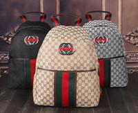 erkek çocuklar için markalı okul çantaları toptan satış-Marka Yüksek qualityh Ünlü Seyahat çantası deslgners erkek çanta tuval sırt çantası grils okul çantası Sırt Çantaları