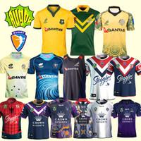 Wholesale australian shirt online - 2018 World Cup AUSTRALIA WALLABIES JERSEY rugby Jerseys NRL National Rugby League shirt Australian melbourne storm shirts s xl