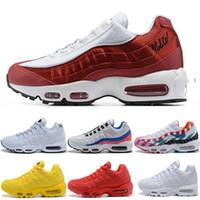 Wholesale 95 shoes for sale - Group buy Black Red Triple White Aqua Ultramarine Mens Trainer Sport Sneakers Designer Men Women Running shoes SE OG
