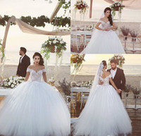 Wholesale sexy corset princess wedding dress for sale - Group buy 2019 Said Mhamad Sexy Off Shoulder Bride Party Ball Gown Wedding Dresses Sweetheart Lace Appliques Corset Back Princess Bridal Gowns