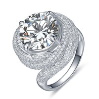 Wholesale white gold wedding rings for her resale online - Promise to Love Ct mm G H Moissanite Engage Ring for Her White Gold Color Sterling Silver Wedding Marriage Jewelry
