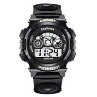 alarme de data venda por atacado-Marca de moda Relógio Digital Homens LED Data Esporte Militar De Borracha De Vida À Prova D 'Água Relógio de Alarme relogio masculino Wristwatche