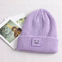 Wholesale smile beanies for sale - Group buy 2019 Knit Ski Hat Women Winter Beanie Smile Crochet Braided Wool Cap Hat Colors
