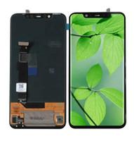 cep telefonları yedek parçaları toptan satış-Amoled ekran uygulanabilir xiaomi mi 8 lcd mi 8 cep telefonu yedek parça siyah renk
