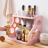 Wholesale spices racks resale online - Simple Layers Kitchen Cabinet Cupboard Organizer Adjustable Kitchen Storage Shelf Spice Rack Countertop Organizer Cabinet