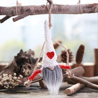 Wholesale easy swing resale online - Christmas Hanging Ornament Home Tree Garden Gift Easy Install Holiday Fairy Faceless Doll Swing Decoration Crafts Party