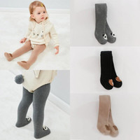 Wholesale toddler girls autumn leggings resale online - Toddler Cotton Pantyhose Baby Girl Fall Winter Warm Leggings Solid Color Infant Pantyhose Halloween Christmas Pants