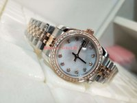 Wholesale stainless steel border resale online - Fashion Wristwatches Datejust RBR mm mm Diamond border k Rose Gold Mechanical Automatic Ladies Women s watch Watches