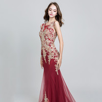 Wholesale images gatsby dresses for sale - Group buy 2019 Robe De Soiree Gatsby Vintage Luxury mermaid Evening Dresses yousef aljasmi sheer Neck with lace appliques cape arabic Prom Gowns