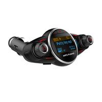 Wholesale usb mp3 player aux output resale online - BT08 Bluetooth Car Kit Handsfree FM Transmitter Wireless Car Mp3 Player Support Charging USB Round AUX Audio Enter Output
