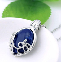 Wholesale lapis lazuli silver for sale - Group buy Crystal Necklaces The Vampire Diaries Katherine Anti sunlight Lapis Lazuli Vintage Chain Necklace