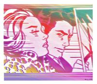 tamanho do quadro do carro venda por atacado-No Carro, 1963 por Roy Lichtenste Alta Qualidade Pintado À Mão / HD Impressão retrato Arte pintura A Óleo Sobre tela, multi tamanhos / Quadro FM32.16