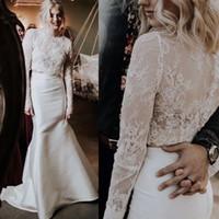 Wholesale apricot wedding dresses for sale - 2019 Long Sleeve Custom Made Lace Wedding Shawl Bolero Bridal Women Jacket Wrap Wedding Dress