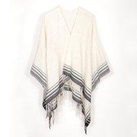 ingrosso sciarpa di colore chiaro-2020 nuovo colore acrilico striscia di lana stile americano europeo e Plain mescolato le donne mantello scialle sciarpa FRWA0193 stile invernale