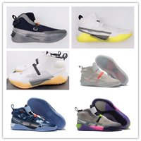 Wholesale kevin durant 12 high basketball shoes resale online - 2020 New Kevin Durant XII High KD Warriors Home Grey White Yellow Mens Basketball Shoes Men Sports Shoes KD12 Sneakers Size