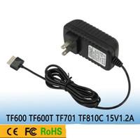 ingrosso compresse ac dc 5v 2a-Alimentatore CA di alta qualità Apdater 15 V 1.2A 18 W AC 100-240 V 50 ~ 60 Hz Per Asus Eee Pad TF600 TF66T TF701 TF801C