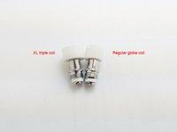 bobinas de globo vape al por mayor-US PHATOMIZER Triple Quartz XL Gran bobina de cerámica para el globo de cristal Cera Vaporizador Ajuste Cráneo Cartuchos de Vape PK Evolve XL Quad Coil