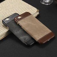 Wholesale iphone 5s case skin for sale – best Retro Style Cloth Skin Leather PC Phone Cases for iphone X XS S SE S Plus Back Cover Case Coque For iphone Plus