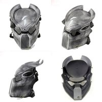 ingrosso lampade di lupo-Alien Vs Predator Lonely Wolf Mask con lampada Wargame Outdoor Tactical Mask Full Face CS Mask Halloween Party