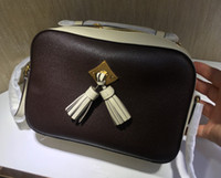 сумочки для фотоаппаратов оптовых-Бесплатная доставка! Высокое качество женская кисточка сумка из натуральной кожи сумка 22 см сумка 43555
