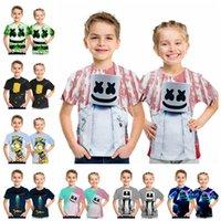 ingrosso dj t-T-shirt a maniche corte DJ Marshmello Maglietta a maniche corte per bambini Cartoon T-shirt con stampa 3D per bambini 15 stili RRA1719