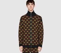 casaco jacquard venda por atacado-NOVA Mens Camisola Pullover Homens Marca Deisgner Moletom Com Capuz Manga Longa de Luxo Moda Camisola Jacquard Cardigan Malhas Roupas de Inverno