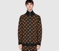 camiseta nueva al por mayor-NUEVO Para Hombre Suéter Pullover Hombres Marca Deisgner Sudadera Con Capucha Manga Larga de Moda de Lujo Sudadera Jacquard Cardigan Prendas de Punto Ropa de Invierno