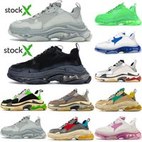 Wholesale old navy shoes for sale - Group buy DHL Top Quality New Paris Fashion FW Triple S Sneakers Boots Men Women Green White Vintage Old Dad Grandpa Casual Shoes