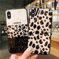 iphone sexy großhandel-Sexy luxus leopard epoxy case für iphone 6 6s 7 8 weiche tpu kantenschutzhülle für iphone x xs xr xmax glatte shell capa
