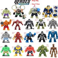Wholesale Hulk Building Block Puzzle thanos Mini Super heroes Marvel Toys Giant Action Figures Captain America deadpool Groot thanos Ironman Dogshank