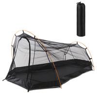 москитные сетки на открытом воздухе оптовых-Outdoor Ultralight Summer Insect Repellent Net Tent Anti Mosquito Tent Camping Bivy Hiking Climbing Cabana Beach Mesh Tents