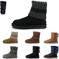 Wholesale high heels boots for sale for sale - Group buy Top sale Australia classic winter boots for women chestnut Triple black gray navy blue designer snow ankle knee boots womens booties shoes