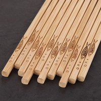 Wholesale natural bamboo gifts resale online - Handmade Natural Bamboo Chopsticks Healthy Chinese Chop Sticks Reusable Hashi Sushi Food Stick Gift Tableware ZC1425