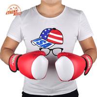 mma fight tops al por mayor-Guantes mayor-Marca Suten Pu boxeo kickboxing Mma Equipo de entrenamiento La lucha contra la bolsa de arena del guante Suteng Sanda White Glove Top Design