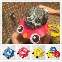 banyo kapağı modası toptan satış-Bebek Çocuk Çocuk Güvenli Şampuan Banyo Banyo Duş Cap Şapka Yıkama Saç Kalkanı Uygun Yeni Moda Bebek Kullanımı